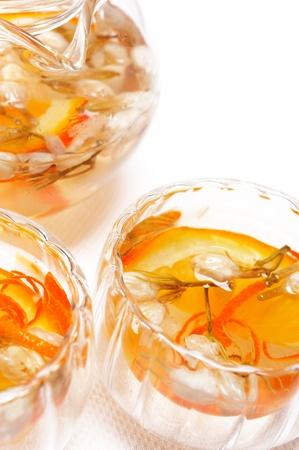 floral tea set over white extreme closeup Stock Photo - 12183720