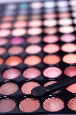 eyeshadow palette professional set extreme closeup DOF Stock Photo - 12183769