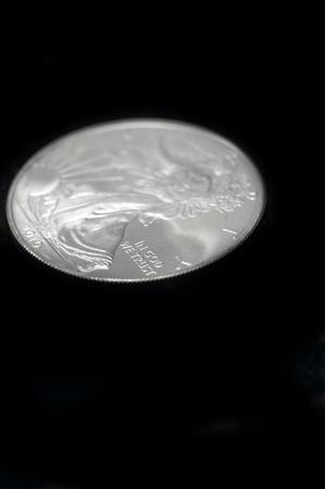 American silver eagle dollar coin over black Stock Photo - 12183780