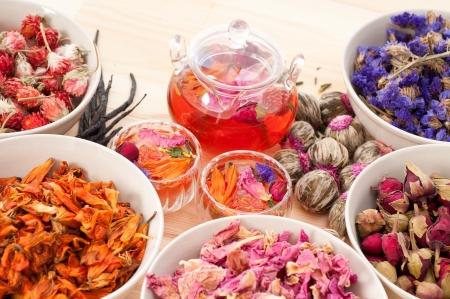 Herbal natürliche floral Aufguss mit trockenen Blumen Inhaltsstoffe