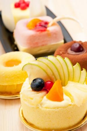 fresh berry fruit cream cake pastry closeup photo