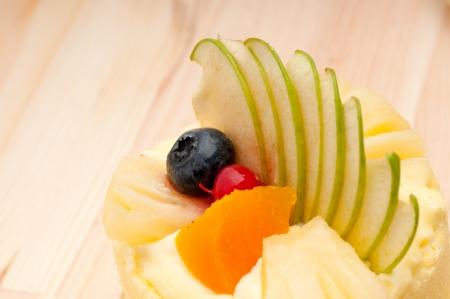 fresh berry fruit cream cake pastry closeup Stock Photo - 15377915