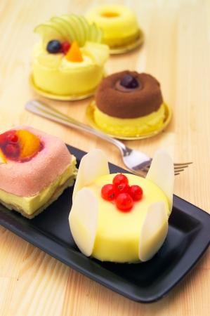fresh berry fruit cream cake pastry closeup Stock Photo - 16216821