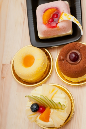 fresh berry fruit cream cake pastry closeup Stock Photo - 16453113