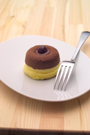 delicious fresh baked chocolate cherry cake closedup Stock Photo - 16661849