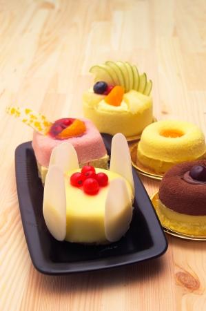 fresh berry fruit cream cake pastry closeup Stock Photo - 16661857