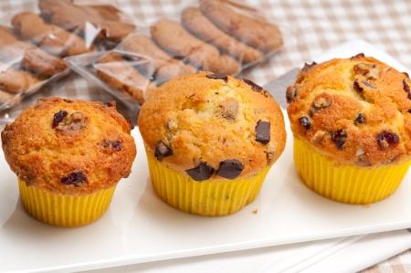 fresh home made chocolate and raisins muffins Stock Photo - 17006810