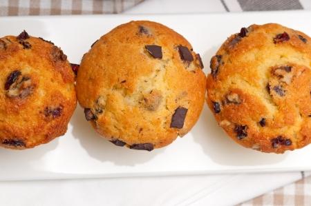 fresh home made chocolate and raisins muffins Stock Photo - 17006805