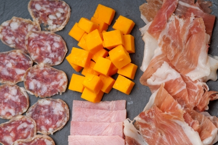 assorted fresh cold cut platter Italian appetizer Stock Photo - 17006809