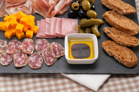assorted fresh cold cut platter Italian appetizer Stock Photo - 17006815