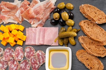 assorted fresh cold cut platter Italian appetizer Stock Photo - 17006828