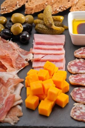 assorted fresh cold cut platter Italian appetizer Stock Photo - 17006808