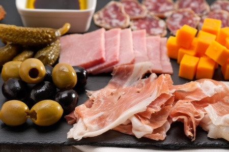 assorted fresh cold cut platter Italian appetizer Stock Photo - 17006814