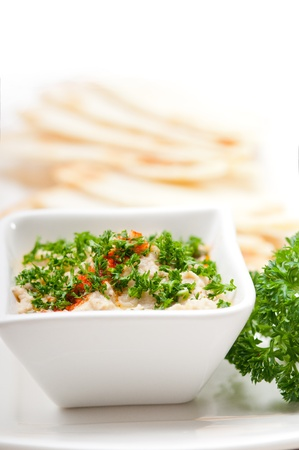 fresh traditional moutabal baba ghanoush eggplant dip Stock Photo - 17006780