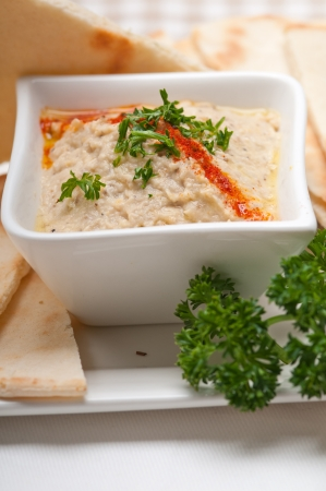 fresh traditional moutabal baba ghanoush eggplant dip Stock Photo - 17105590