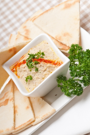 fresh traditional moutabal baba ghanoush eggplant dip Stock Photo - 17105568