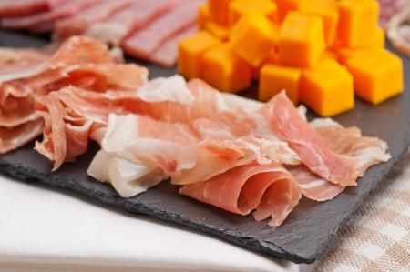 assorted fresh cold cut platter Italian appetizer Stock Photo - 17105581