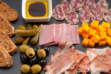 assorted fresh cold cut platter Italian appetizer Stock Photo - 17105582