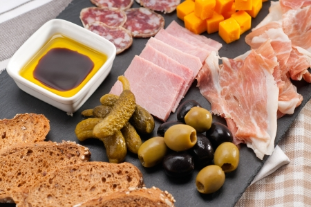 assorted fresh cold cut platter Italian appetizer Stock Photo - 17105586