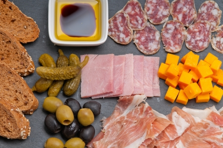 assorted fresh cold cut platter Italian appetizer Stock Photo - 17105587