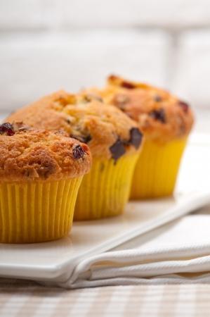 fresh home made chocolate and raisins muffins Stock Photo - 17105566