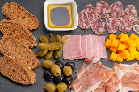assorted fresh cold cut platter Italian appetizer Stock Photo - 17349871