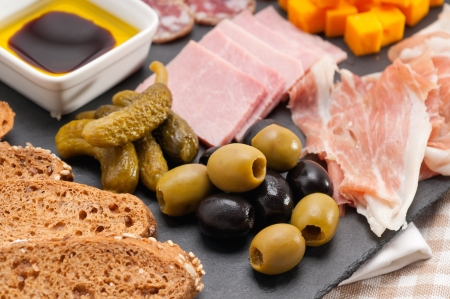 assorted fresh cold cut platter Italian appetizer Stock Photo - 17349867