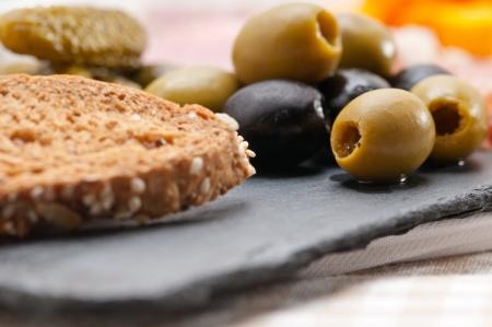 assorted fresh cold cut platter Italian appetizer Stock Photo - 17349866