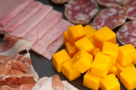 assorted fresh cold cut platter Italian appetizer Stock Photo - 17349872