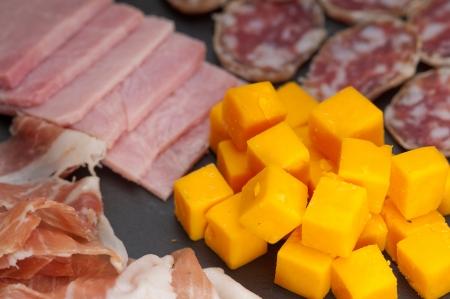 assorted fresh cold cut platter Italian appetizer Stock Photo - 17349872