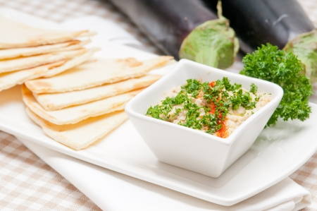 fresh traditional moutabal baba ghanoush eggplant dip Stock Photo - 17846658