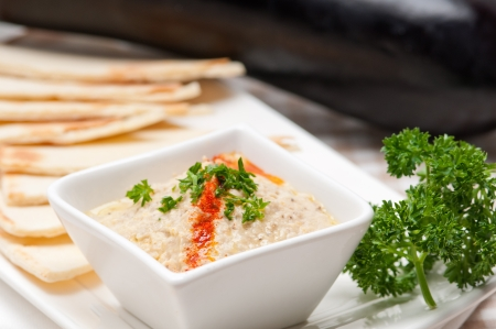 fresh traditional moutabal baba ghanoush eggplant dip Stock Photo - 17846659