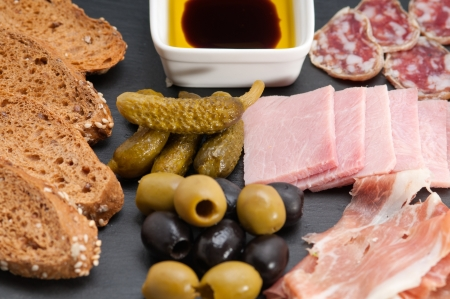 assorted fresh cold cut platter Italian appetizer Stock Photo - 17846685