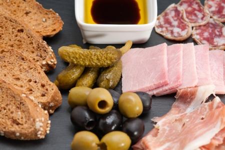 assorted fresh cold cut platter Italian appetizer Stock Photo - 17846685