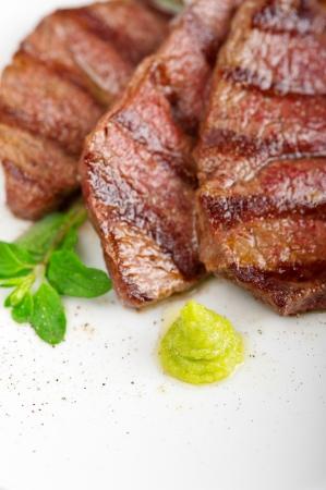 grilled Kobe Miyazaky beef with fresh vegetables Stock Photo - 17846678