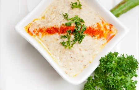 fresh traditional moutabal baba ghanoush eggplant dip Stock Photo - 17846716