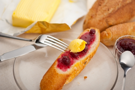bread butter and jam classic European breakfast Stock Photo - 17846720