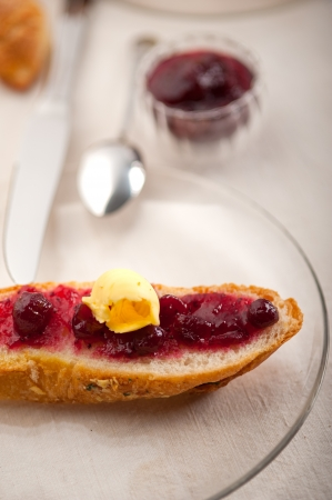 bread butter and jam classic European breakfast Stock Photo - 17846717