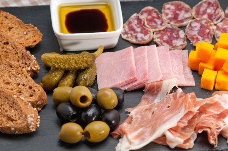 assorted fresh cold cut platter Italian appetizer Stock Photo - 17846729