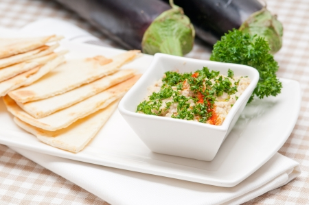 fresh traditional moutabal baba ghanoush eggplant dip Stock Photo - 17846743
