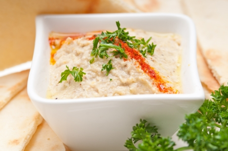 fresh traditional moutabal baba ghanoush eggplant dip Stock Photo - 17846745