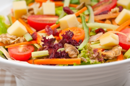 Fresh mixed colorful healthy salad closeup vegetarian food Stock Photo - 18399616