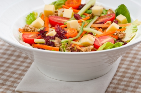 Fresh mixed colorful healthy salad closeup vegetarian food Stock Photo - 18399614