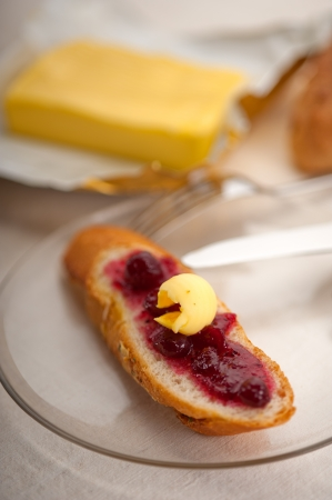 bread butter and jam classic European breakfast Stock Photo - 18511561
