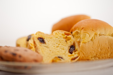selection of sweet bread and cookies for breakfast Stock Photo - 18511553
