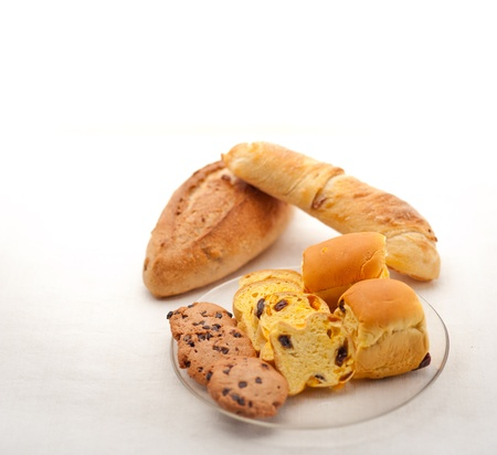 selection of sweet bread and cookies for breakfast Stock Photo - 18511560