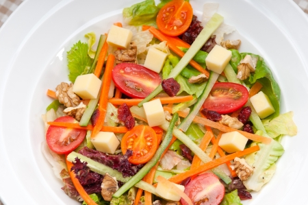 Fresh mixed colorful healthy salad closeup vegetarian food Stock Photo - 18511647