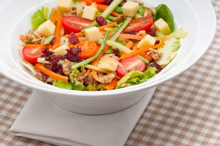 Fresh mixed colorful healthy salad closeup vegetarian food Stock Photo - 18511636