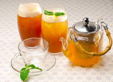fresh brewed selection of tea clodeup macro Stock Photo - 19016854