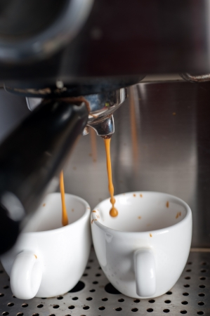 Caf� espresso italiano decisiones con macro profesional m�quina photo
